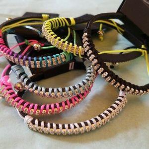 2pc Wholesale Rhinestone Tie Bracelet Multi Color